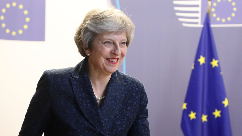 Theresa May at EU leaders summit in Brussels on 29 June 2018