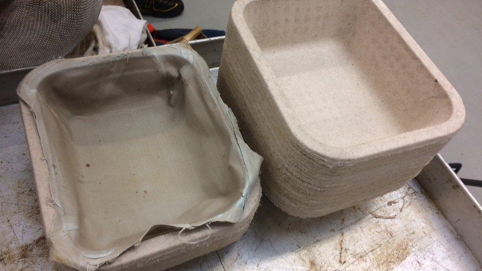 The food packaging trays