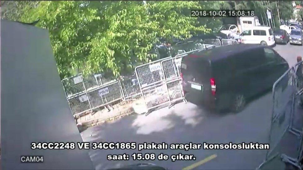 Imágenes de CCTV del caso Khashoggi