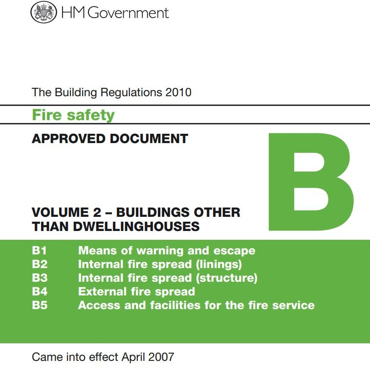The cover of Approved Document B