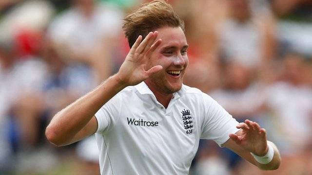 Stuart Broad playing for England