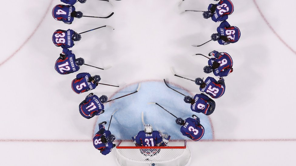 Team Korea prepare to face Team Sweden in the Women's Ice Hockey Preliminary Round - Group B game on day three of the PyeongChang 2018 Winter Olympic Games
