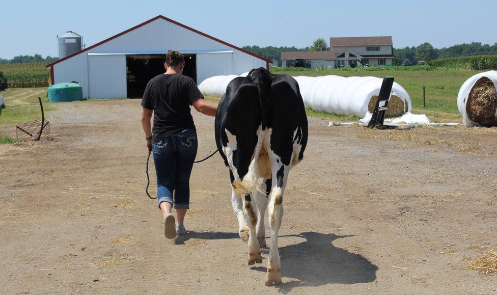 Trisha Boyce at her farm