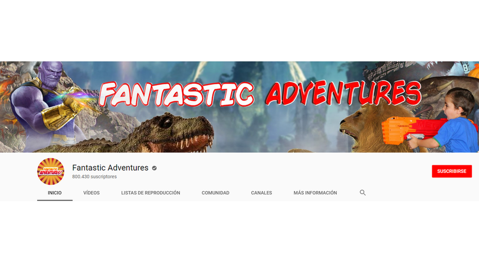 Imagen del canal de You Tube Fantastic Adventures