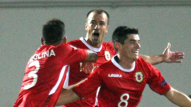 You wait 22 games for a victory then two come along at once - world 198 Gibraltar win again