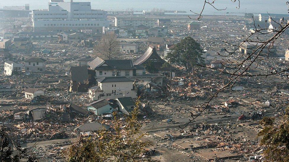 Terremoto y tsnumami en Otsuchi.