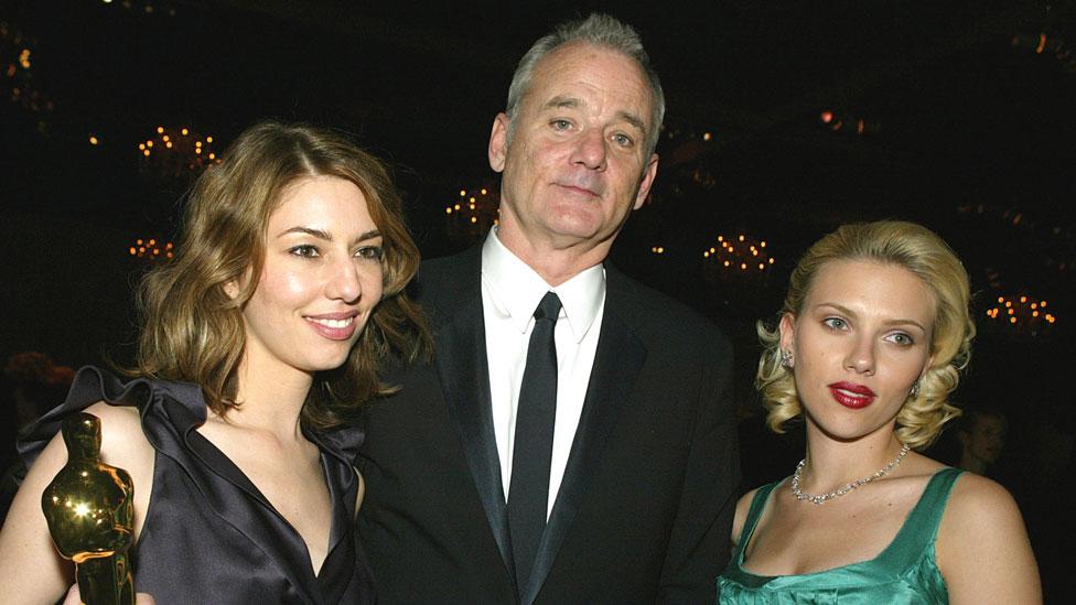 Sofia Coppola con Bill Murray y Scarlett Johansson en 2004