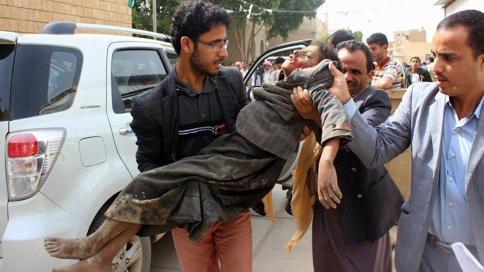 مقتل وإصابة عشرات الأطفال في غارة للتحالف بقيادة السعودية على صعدة