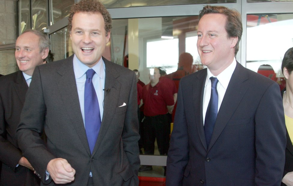Lord Rothermere and David Cameron