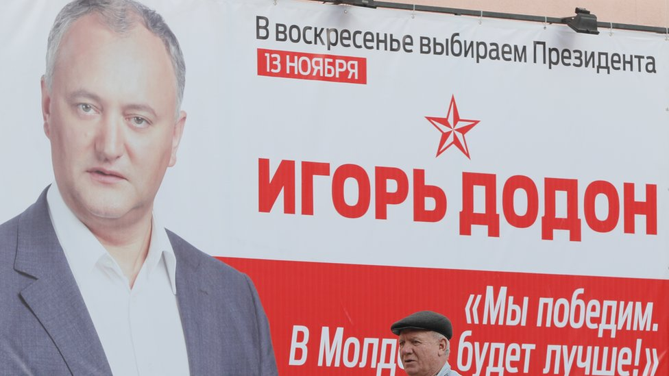 "An Igor Dodon's campaign poster with the slogan: ""We will win and it will be better in Moldova"""