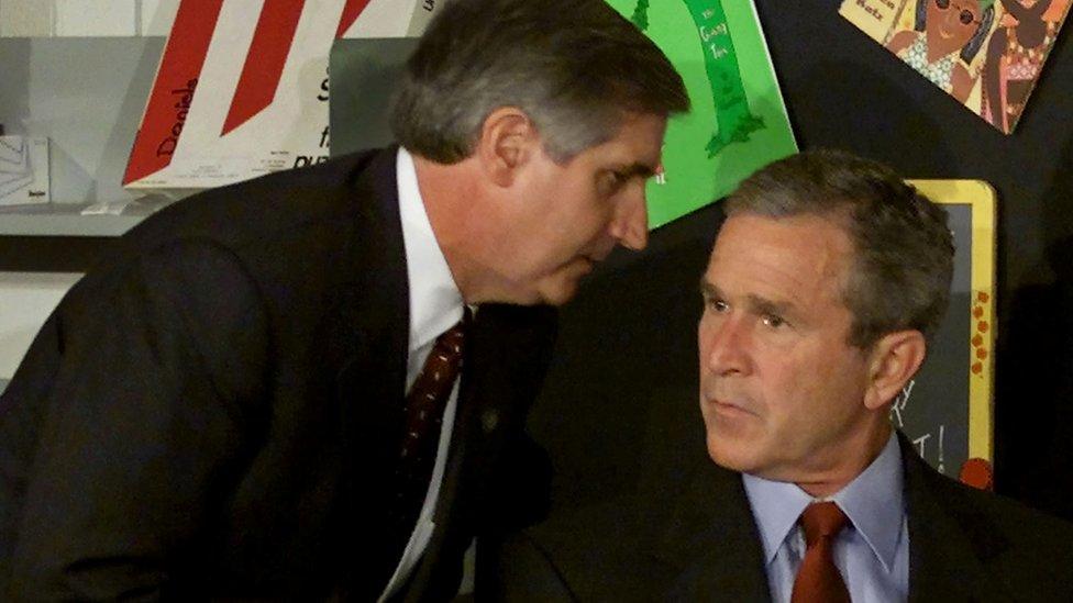 """آندرو كارد يقول لبوش: """"أمريكا تتعرض للهجوم"""""""