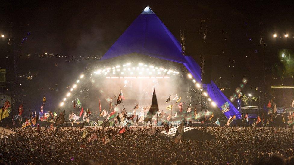 Glastonbury Festivali'ndeki Piramit sahnesi, 2017