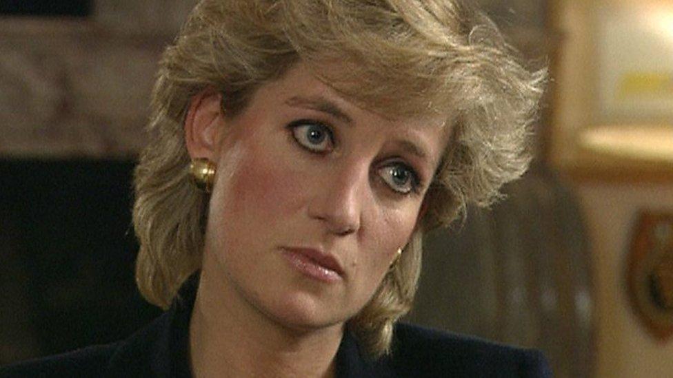 戴安娜王妃(Princess Diana)1995年接受BBC《廣角鏡》節目採訪