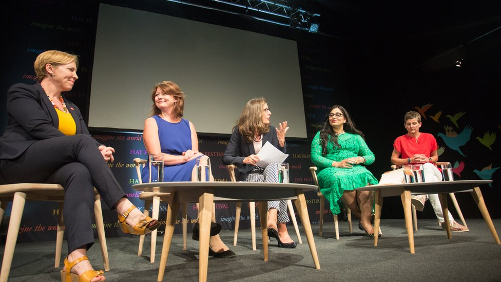 Auriol Miller, Leanne Wood, Clare Critchley, Shazia Awan-Scully and Laura McAllister
