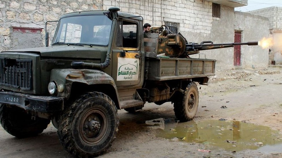 Ahrar al-Sham fighter in Aleppo province (January 2014)