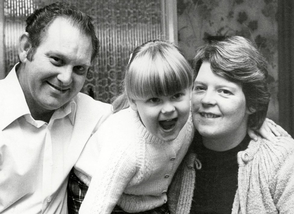 John and Lesley Brown with daughter Louise Brown