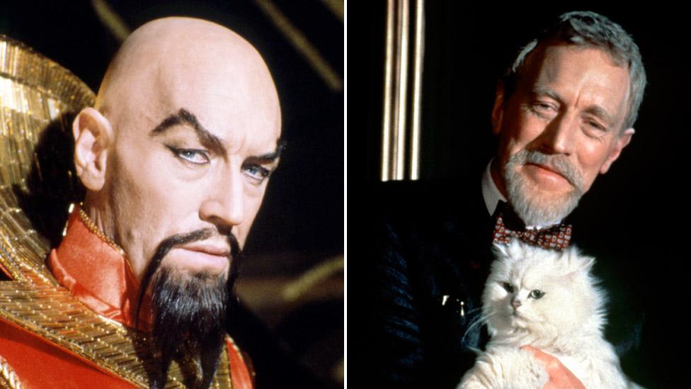 """Ming el Despiadado en """"Flash Gordon"""" (izquierda) y al villano Ernst Stavro Blofeld en """"Nunca digas nunca jamás"""" (Never Say Never Again) de la saga James Bond."""
