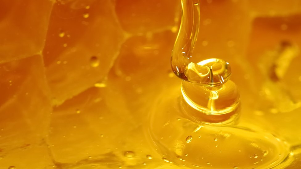 Honey on comb