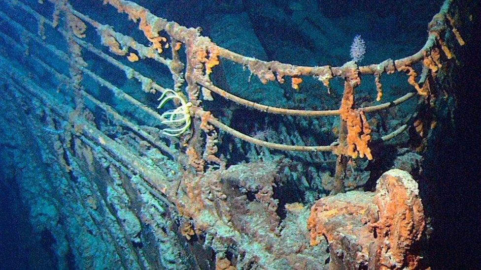大西洋海牀上的泰坦尼克號殘骸