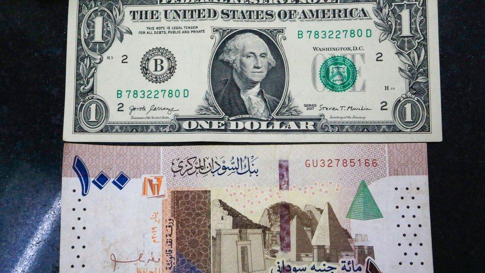 قيمة الجنيه السوداني سجلت مايقارب الخمسمئة جنيه مقابل الدولار الواحد