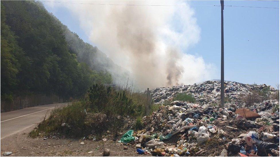 deponija Stanjevine požar Prijepolje