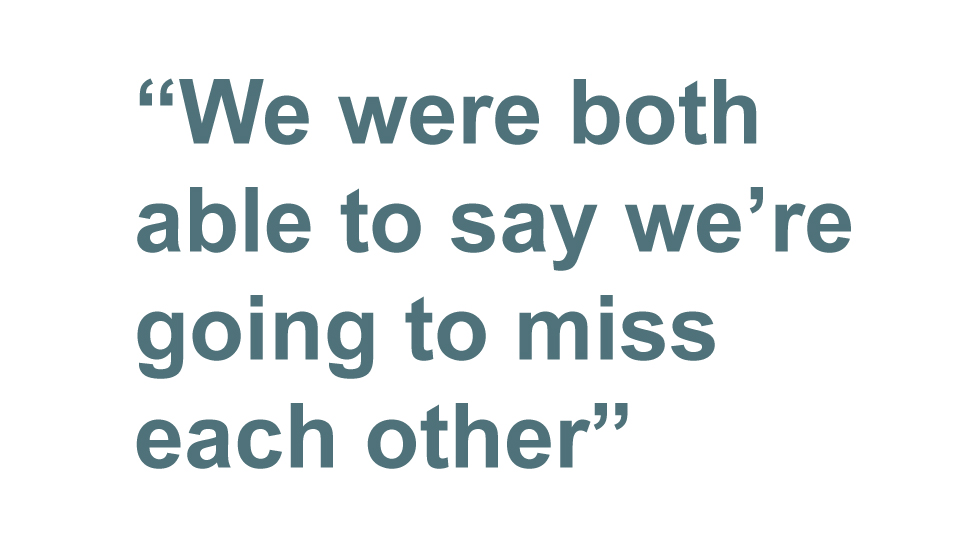 Quotebox: We were both able to say we're going to miss each other