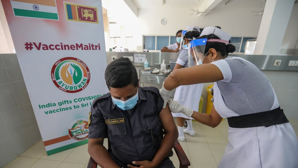 除了中國,印度向不同國家捐贈疫苗的數量更多,捐贈疫苗數量達600萬多劑。