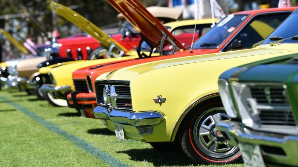 A parade featuring classic Holden cars in Adelaide earlier this week