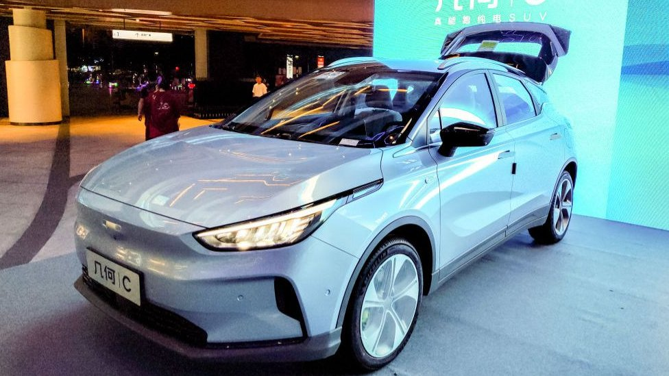 Geely electric car at Shanghai Auto show
