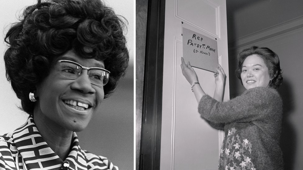 Shirley Chisholm and Patsy Mink