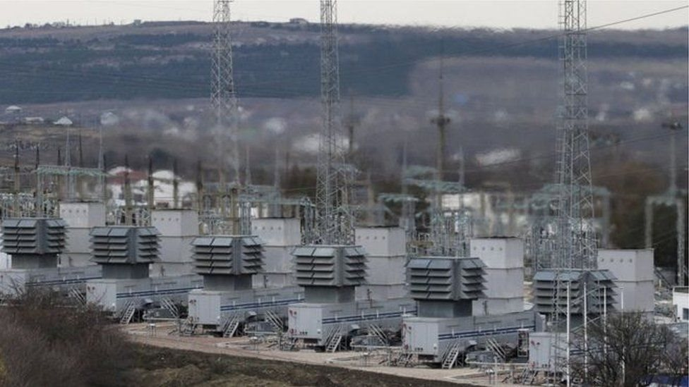 Planta de energía eléctrica de Ucrania.