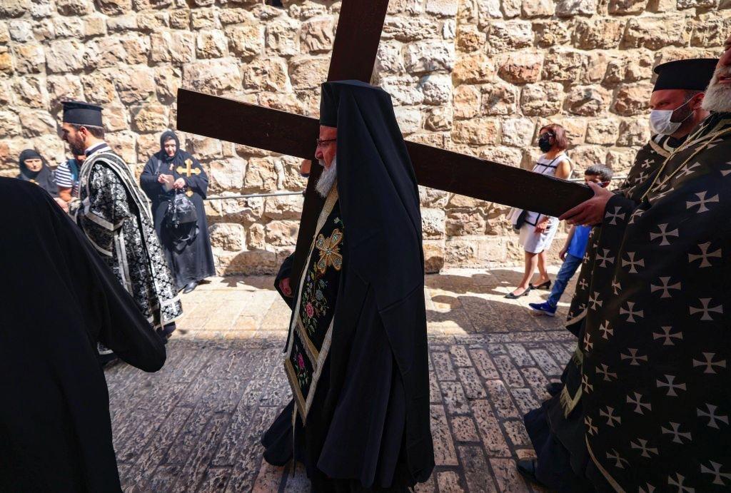 زياح درب الصليب يوم الجمعة العظيمة في القدس