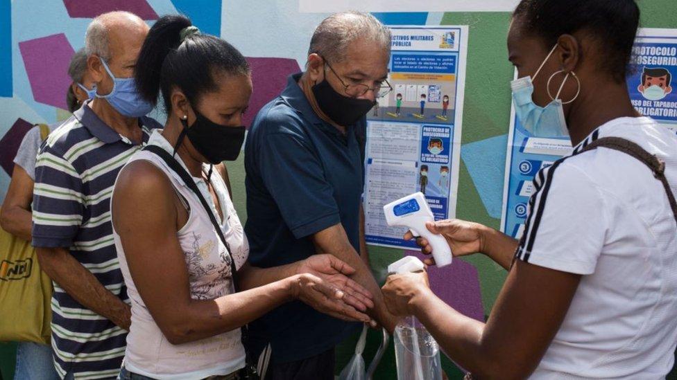 Simulacro de elección en Petare, Caracas