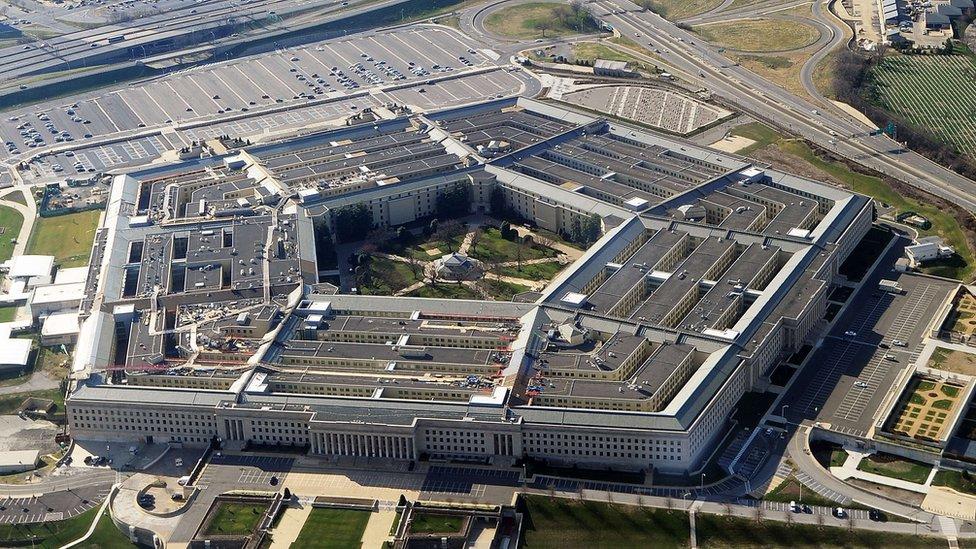 Vista aérea del Pentágono, Estados Unidos