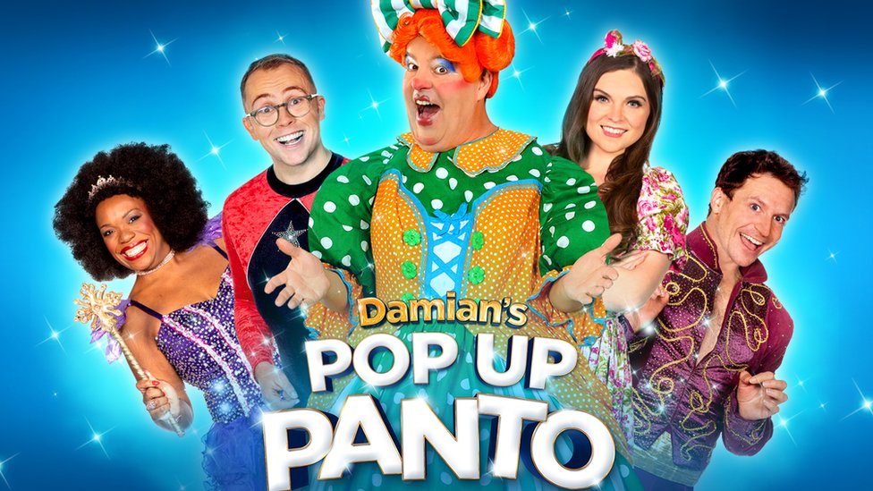 The producers of Damian's Pop Up Panto hope the show will go ahead, but it can't currently as Sheffield is in tier three