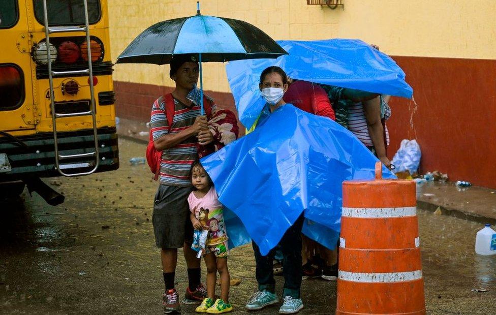 Migrantes en Guatemala