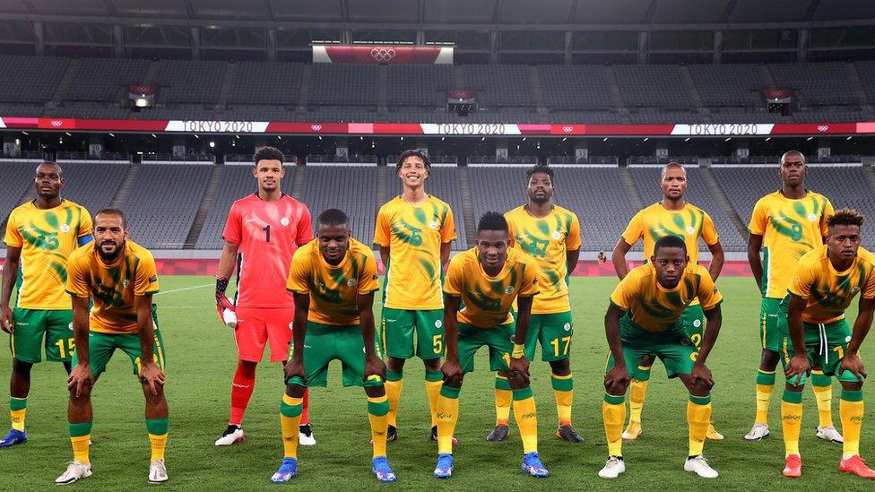 لاعبو منتخب جنوب أفريقيا