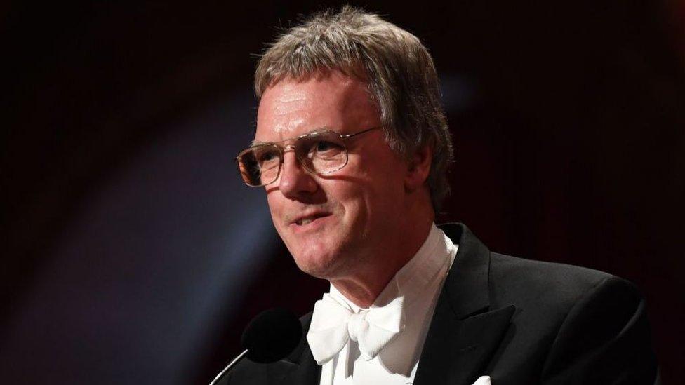 Peter Ratcliffe na cerimônia do Prêmio Nobel em 10 de dezembro de 2019