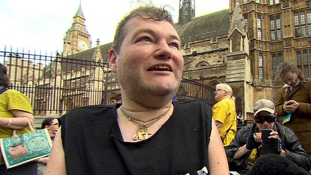 Protester John Kelly