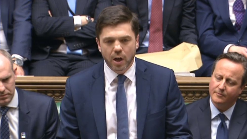 Secretary of State for Work and Pensions Stephen Crabb speaking in the House of Commons