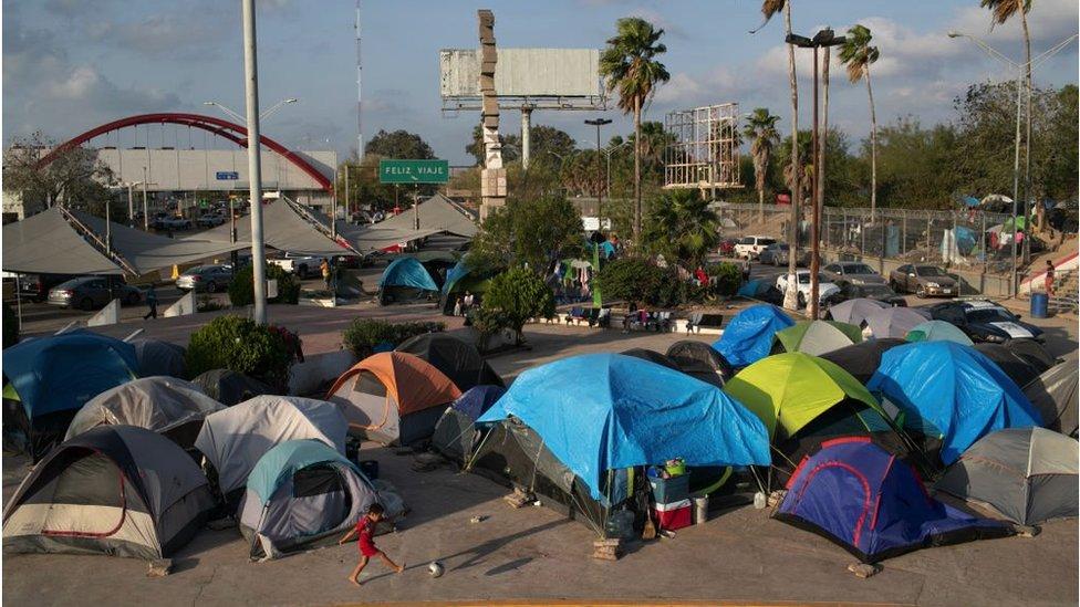 Campamento de migrantes de Matamoros