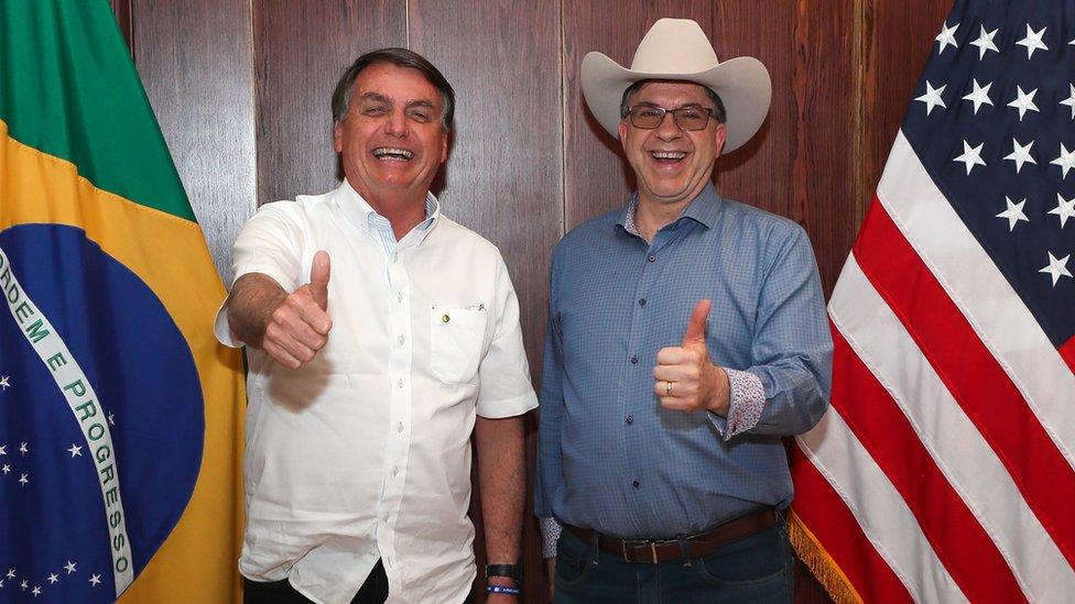 Jair Bolsonaro y Todd Chapman