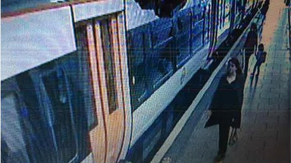 CCTV of Ms Ahmed at Wembley Central Railway Station