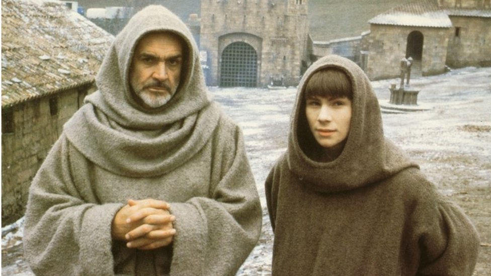 Sean Connery and Christian Slater in The Name of the Rose