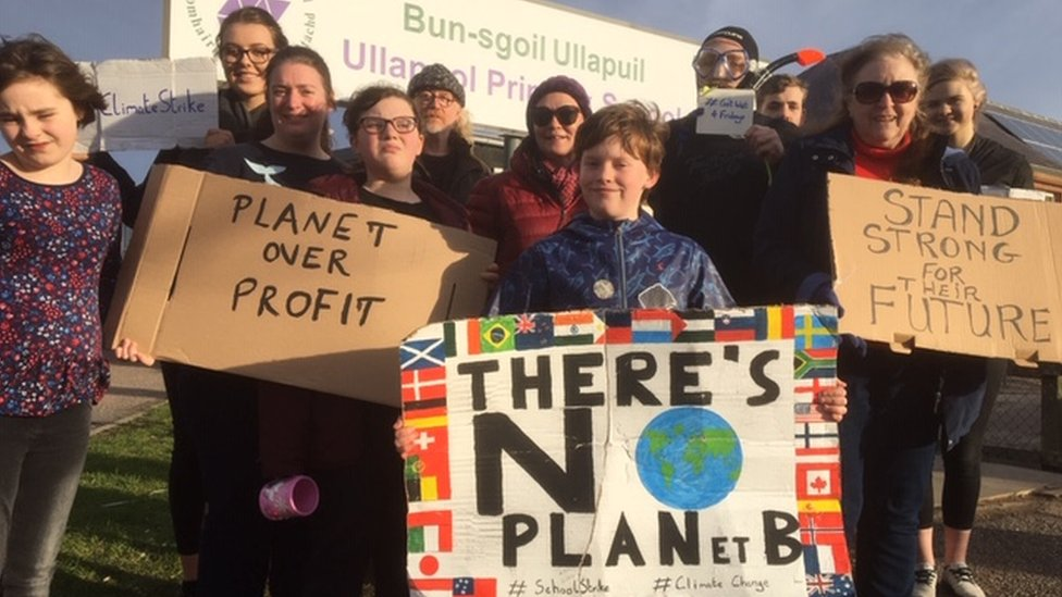 Children in Scotland on strike to 'save the planet'