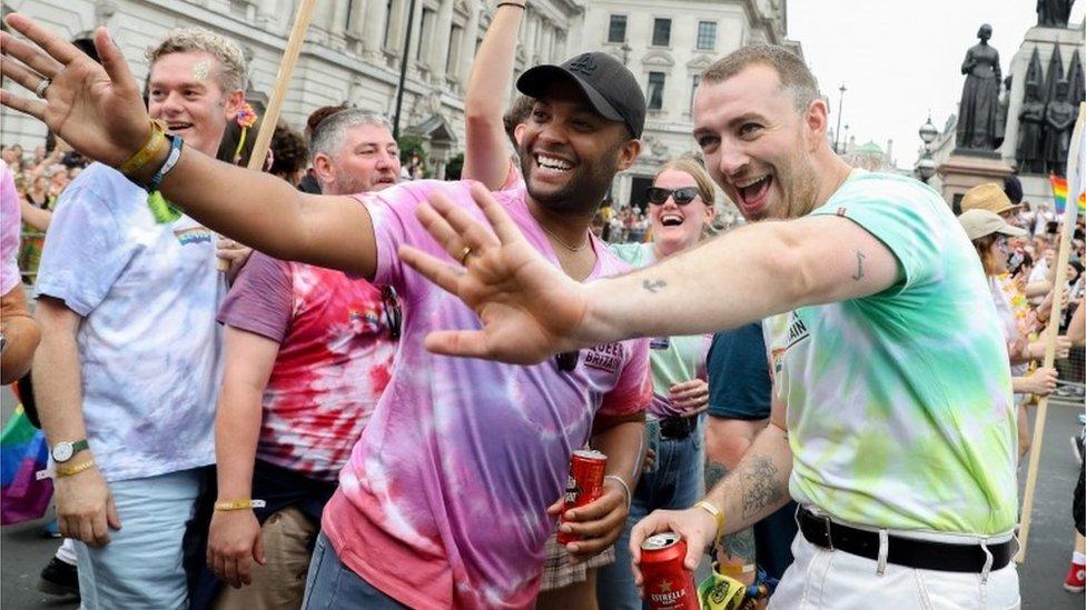 Sam Smith at Pride