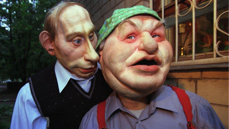 Marioneta del presidente ruso Vladimir Putin