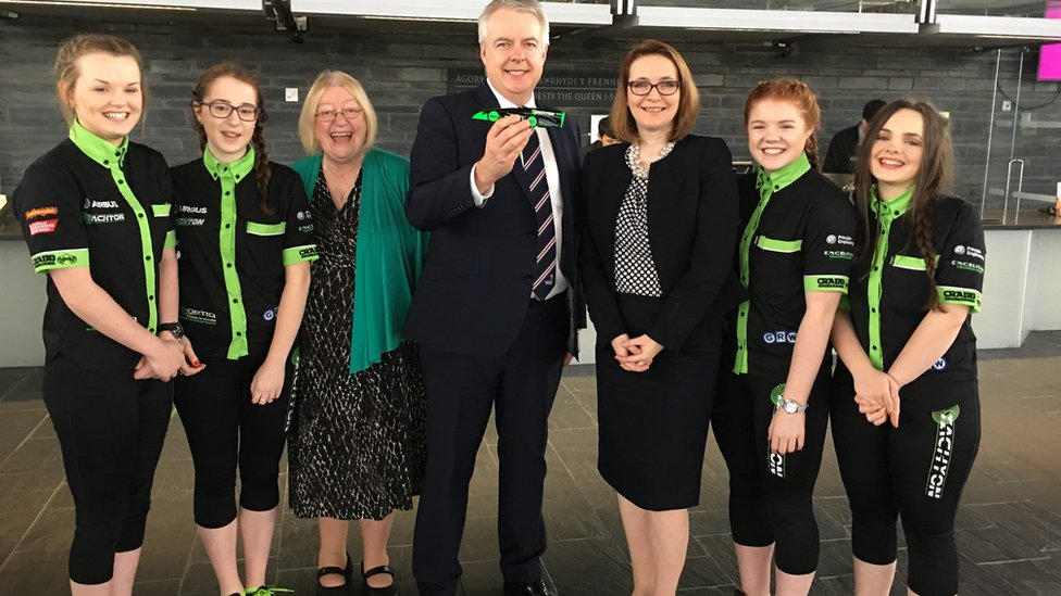 Team Tachyon were congratulated by First Minister Carwyn Jones, Education Secretary Kirsty Williams and Vale of Clwyd AM, Ann Jones