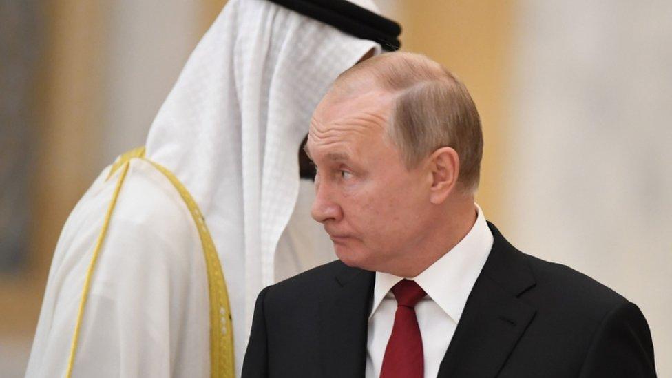 بوتين في أبو ظبي