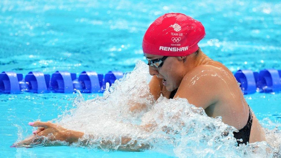 Nadadora en Tokyo 2020.